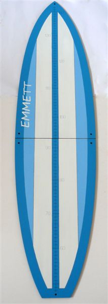 Blue and white surfboard Growth chart